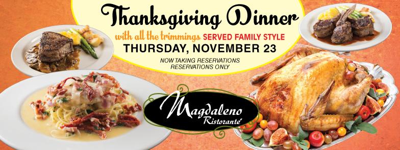 Magdaleno Thanksgiving Dinner